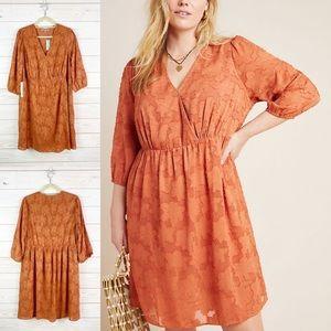 Anthropologie Lia Textured Mini Dress Plus Size 1X